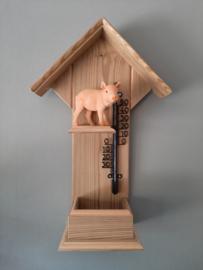 Thermometerhuisje varken staand