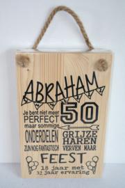 Tekstbord Abraham