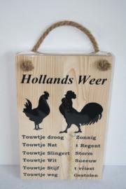 Hollands weerbericht> kip/haan