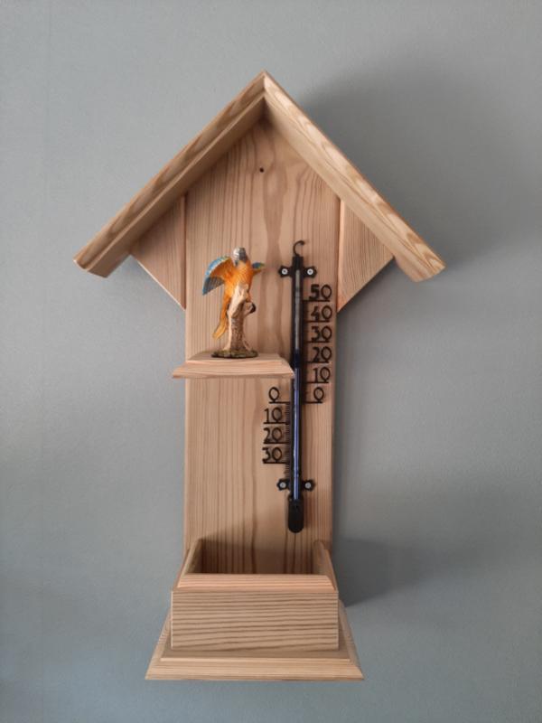 Thermometerhuisje papegaai blauw
