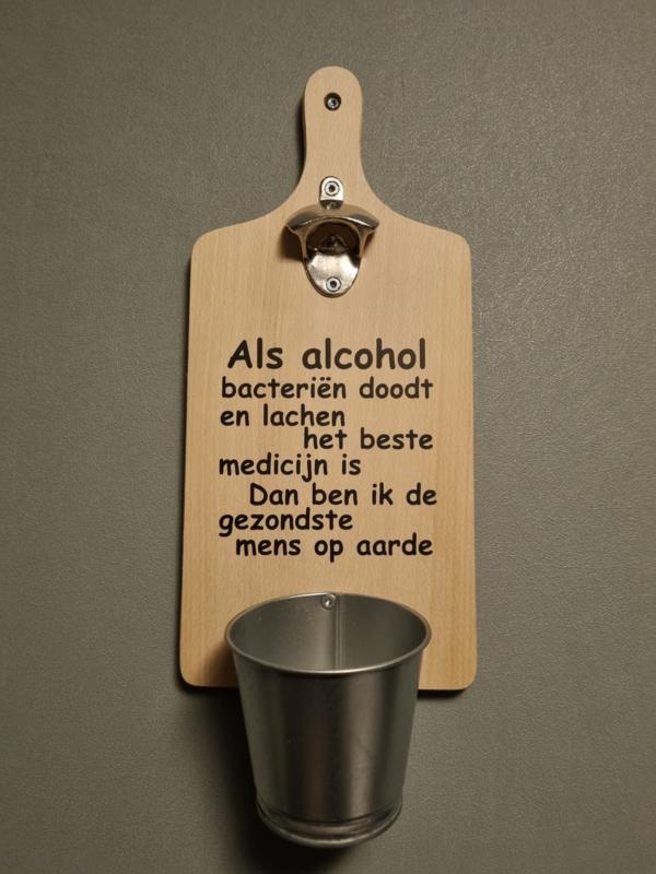 Broodplank opener als alcohol