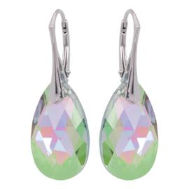 Zilveren Oorbellen met Swarovski Kristal Paradise Shine - 22MM