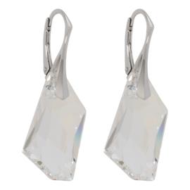 Zilveren Oorbellen met Swarovski Kristal Element De-art Crystal  24MM