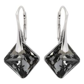 Zilveren Oorbellen met Swarovski Kristal Elements Princess Light Siam 16MM
