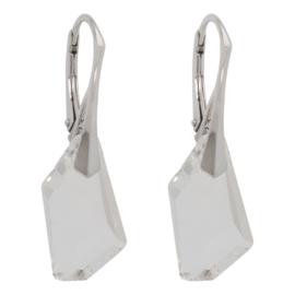 Zilveren Oorbellen met Swarovski Kristal Element De-art Crystal 18MM