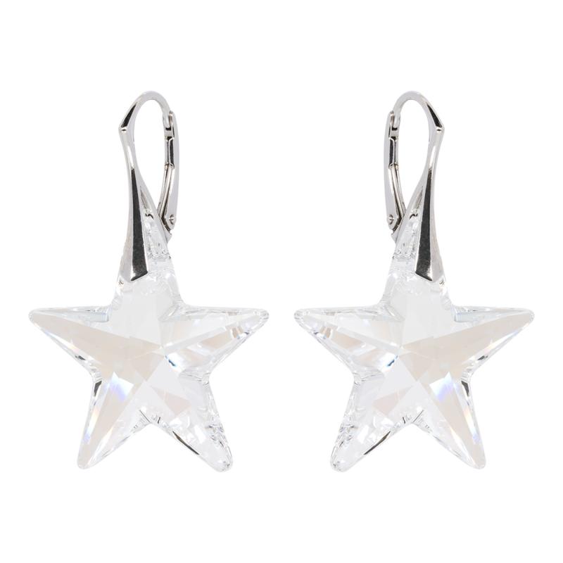 Zilveren  Oorbellen met Swarovski Elements Star Moonlight