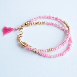 Miyuki Beads Dubbel Roze/Goud