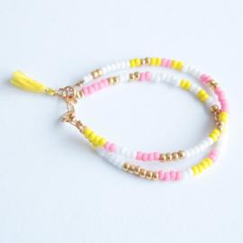 Miyuki Beads Dubbel Roze/Geel
