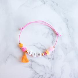 Naam armbandje Flower