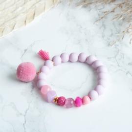 Armbandje Lila pink