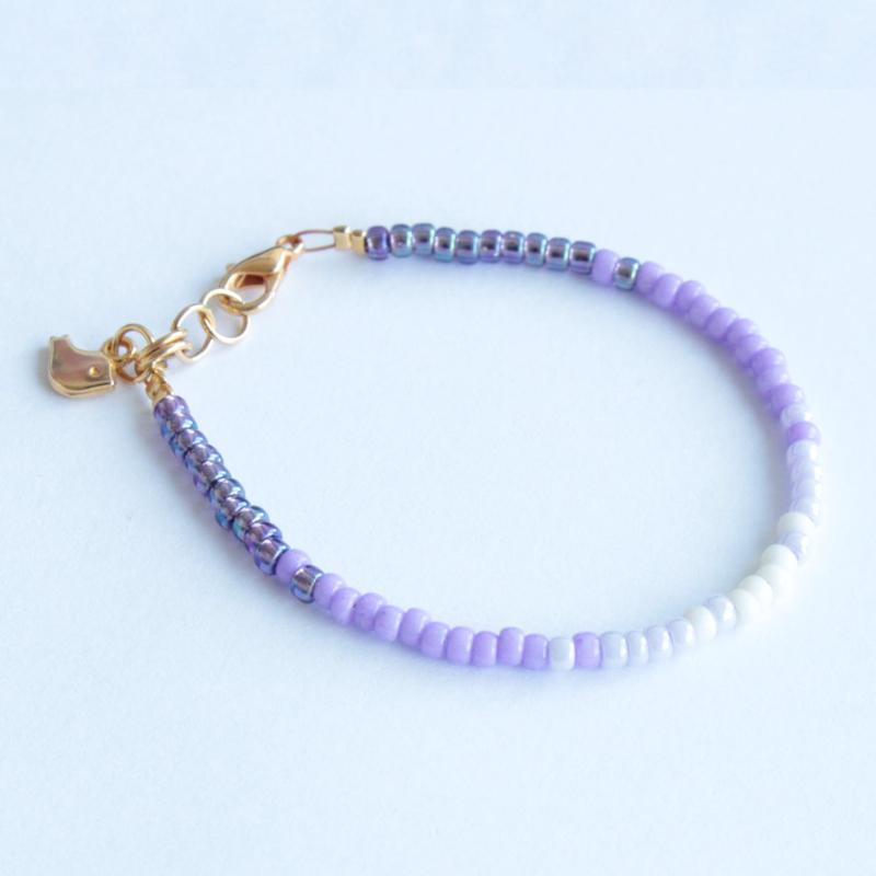 Miyuki Beads armbandje Paars