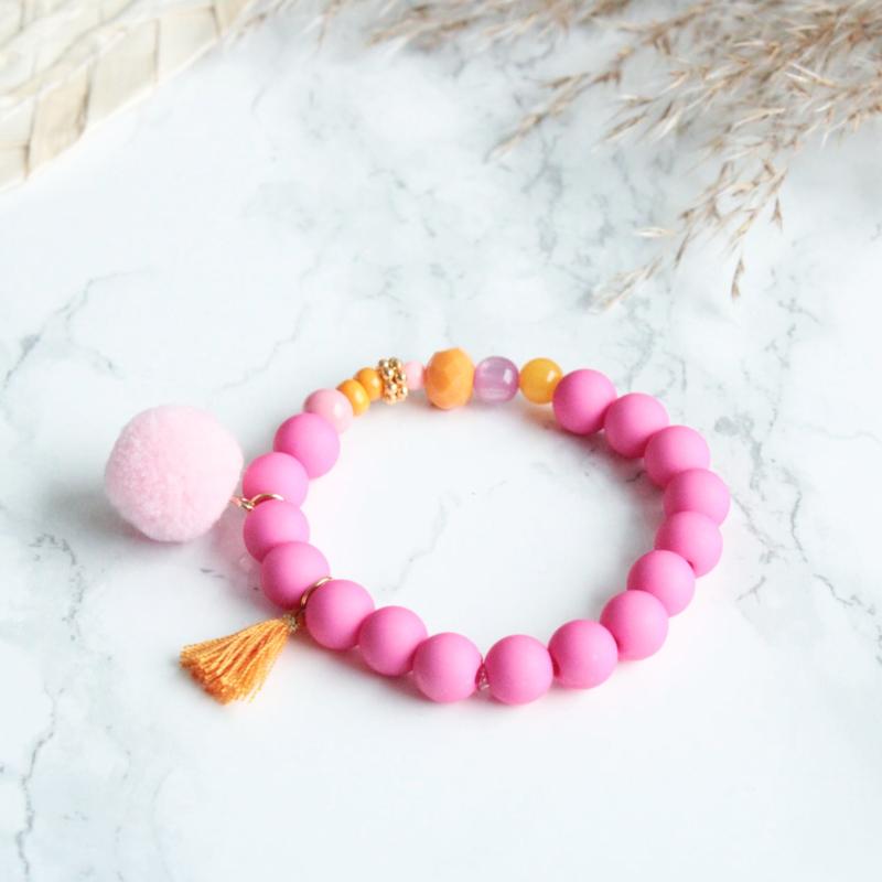 Armbandje Pink orange