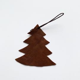 Leren kerst ornament - kleine kerstboom