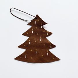 Leren kerst ornament - kerstboom
