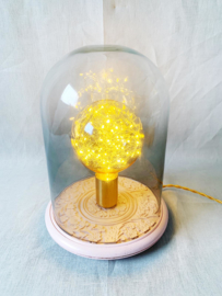 Roze stolp lamp
