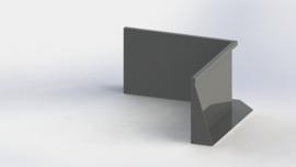 Gepoedercoat staal keerwand binnenhoek 1000x1000mm (hoogte 600mm)