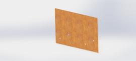 Cortenstaal koppelplaat recht