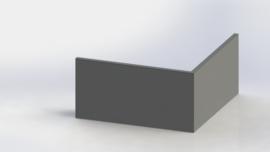 Gepoedercoat staal keerwand buitenhoek 1000x1000mm (hoogte 500mm)