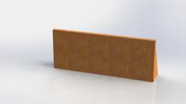 Cortenstaal keerwand recht 1000mm (hoogte 400mm)
