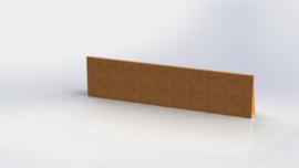 Cortenstaal keerwand recht 2000mm (hoogte 500mm)