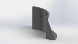 Gepoedercoat staal keerwand binnenbocht 500x500mm (hoogte 500mm)