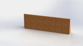 Cortenstaal keerwand recht 1500mm (hoogte 500mm)