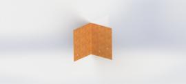 Cortenstaal koppelplaat 90º