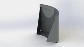 Gepoedercoat staal keerwand buitenbocht 500x500mm (hoogte 500mm)
