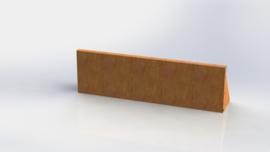 Cortenstalen keerwand recht 1000mm (hoogte 300mm)