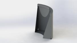 Gepoedercoat staal keerwand buitenbocht 500x500mm (hoogte 600mm)