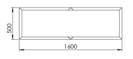 Gepoedercoat staal plantenbak Texas xxl 1600x500