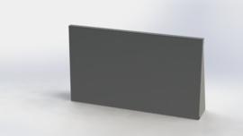 Gepoedercoat staal keerwand recht 1000mm (hoogte 600mm)