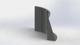 Gepoedercoat staal keerwand binnenbocht 500x500mm (hoogte 600mm)