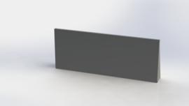 Gepoedercoat staal keerwand recht 1500mm (hoogte 600mm)