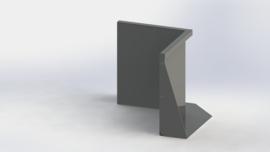 Gepoedercoat staal keerwand binnenhoek 500x500mm (hoogte 600mm)