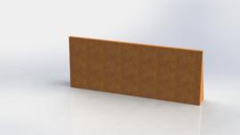 Cortenstaal keerwand recht 1500mm (hoogte 600mm)