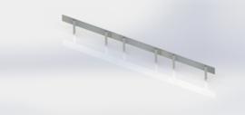 Verzinkt staal complete set per 15 meter
