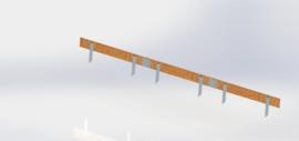 Cortenstaal complete set per 15 meter