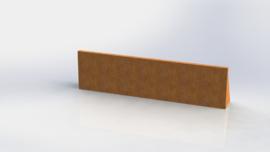 Cortenstaal keerwand recht 1500mm (hoogte 400mm)