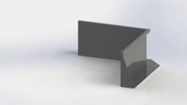 Gepoedercoat staal keerwand binnenhoek 1000x1000mm (hoogte 500mm)