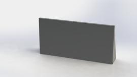Gepoedercoat staal keerwand recht 1000mm (hoogte 500mm)