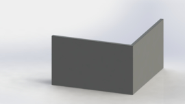 Gepoedercoat staal keerwand buitenhoek 1000x1000mm (hoogte 600mm)