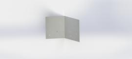 Verzinkt staal koppelplaat 45º