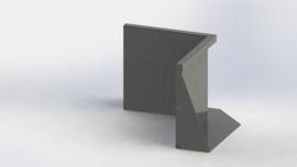 Gepoedercoat staal keerwand binnenhoek 500x500mm (hoogte 500mm)