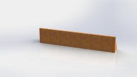 Cortenstaal keerwand recht 2000mm (hoogte 300mm)