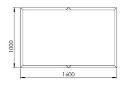 Verzinkt staal plantenbak Texas xxl 1600x1000