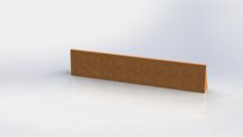 Cortenstaal keerwand recht 2000mm (hoogte 400mm)