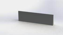 Gepoedercoat staal keerwand recht 2000mm (hoogte 600mm)