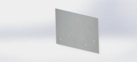 Verzinkt staal koppelplaat recht