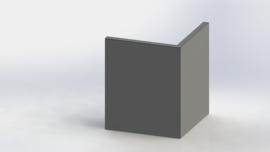 Gepoedercoat staal keerwand buitenhoek 500x500mm (hoogte 600mm)